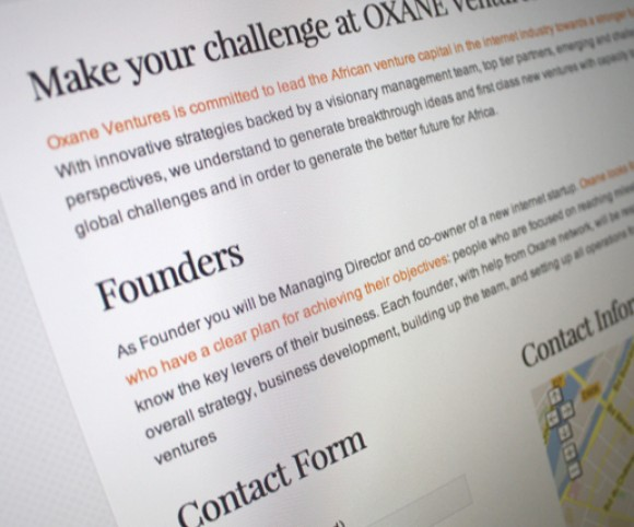 Page contact Oxane Ventures